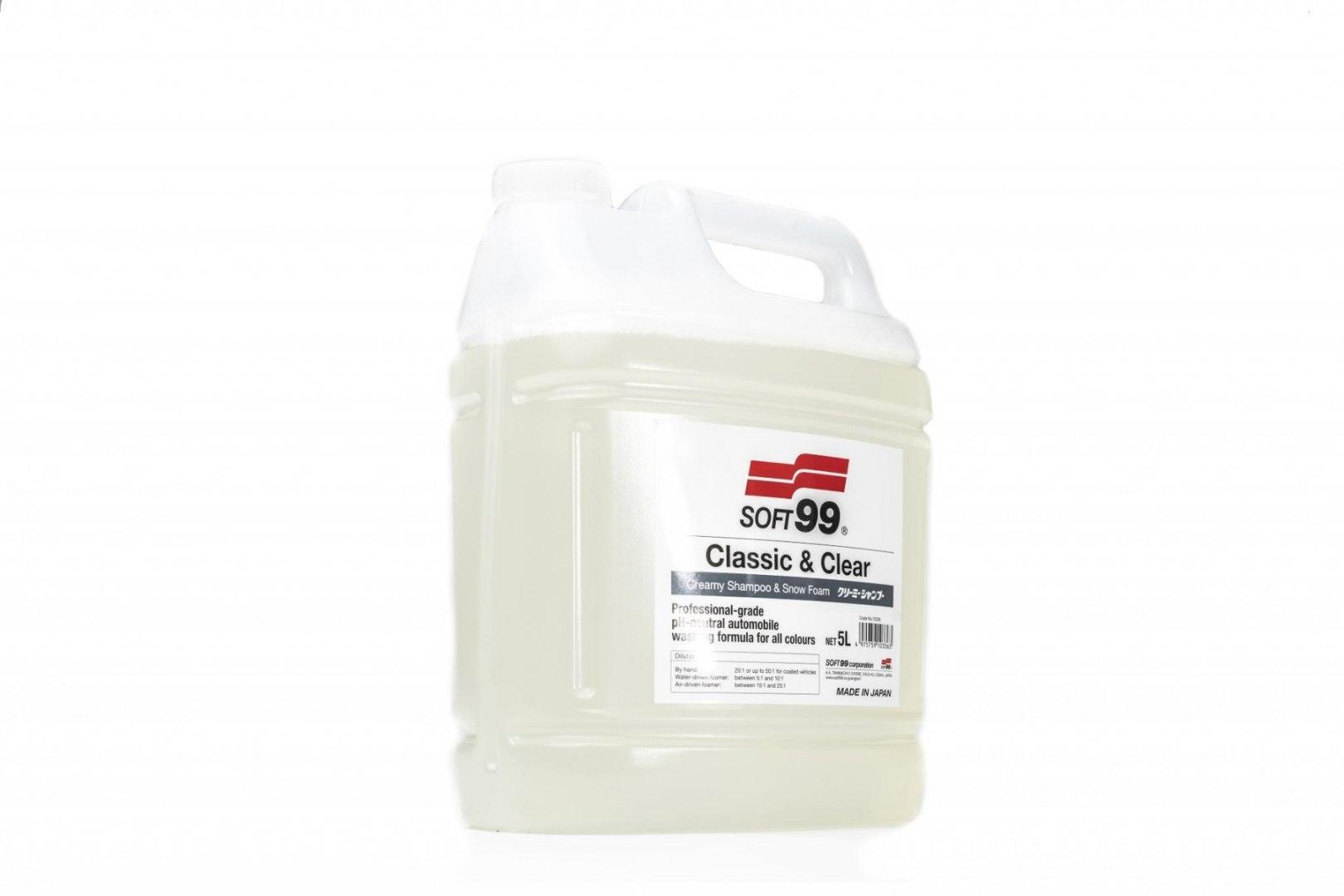 Soft99 Classic&Clear Shampoo 5L (Szampon) - GRUBYGARAGE - Sklep Tuningowy